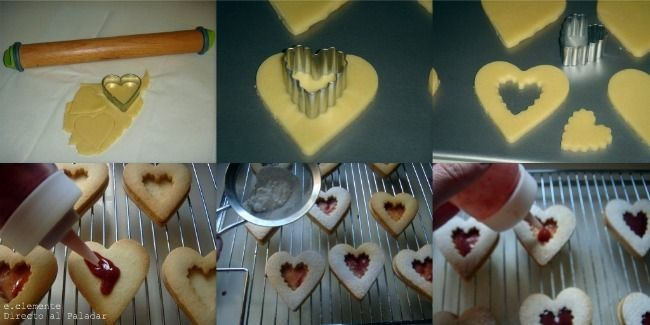 Paso a paso galletas Linzer San Valentín