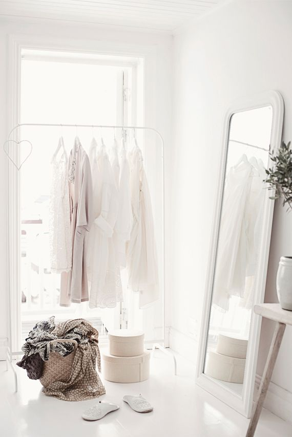 white #home #decor #closet #simple
