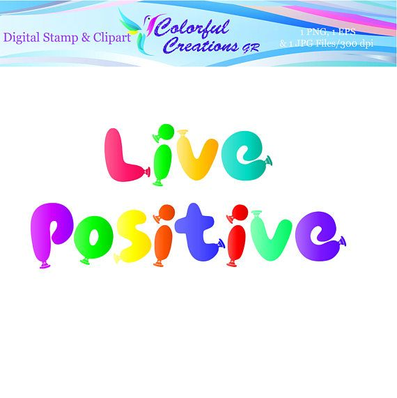 Live Positive Digital Stamp For Personal And Commercial Use