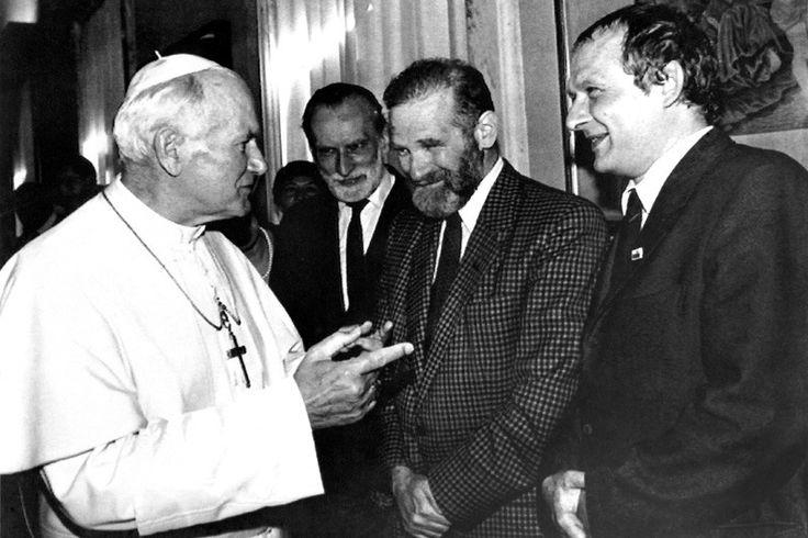 Jan Paweł II + Bronisław Geremek + Adam Michnik