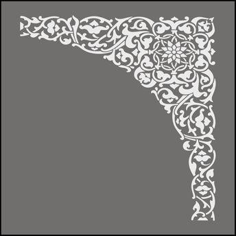 Click to see the actual OTT42 - Spandrel No 2 stencil design.