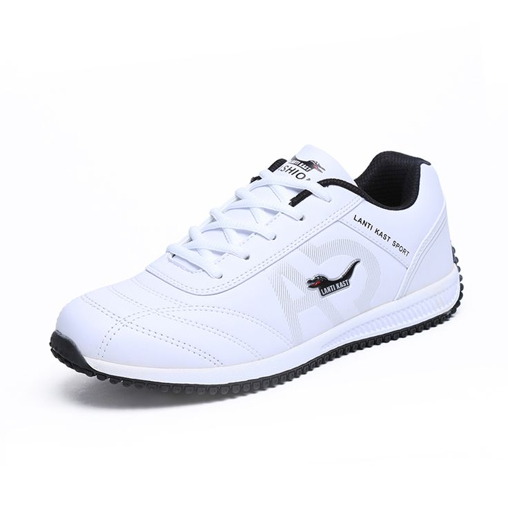 New Men Sports Shoe Leather Waterproof Mens Running Shoe Black/White Running Trainers Mens Spring/Autumn Men Shoes Luxury Brand