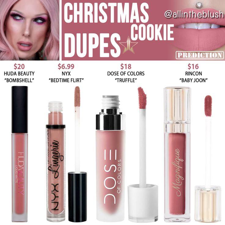 Jeffree Star Christmas Cookie Velour Liquid Lipstick Prediction Dupes