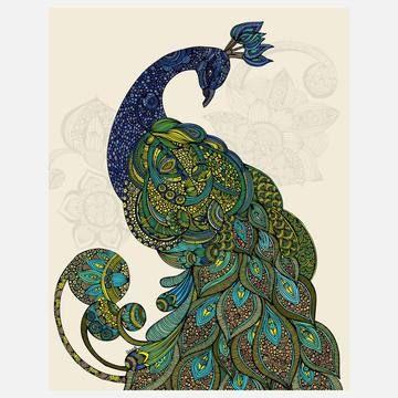 Eva Print 11x14 by Valentina RamosInspiration, Valentina Ramos, Eva, Art Prints, A Tattoo, Animal Artworks, Line Drawing, Art Deco, Peacocks Feathers