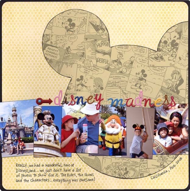 Disney' Scrapbooking Layouts - 6 wallet sized photos big silhouette: Scrapbook Ideas, Disney Scrapbook Layout, Scrapbook Disney, Disney Scrapbook Pages, Scrapbooks, Disneyscrapbook, Bing Image, Scrap Books, Disney Layout