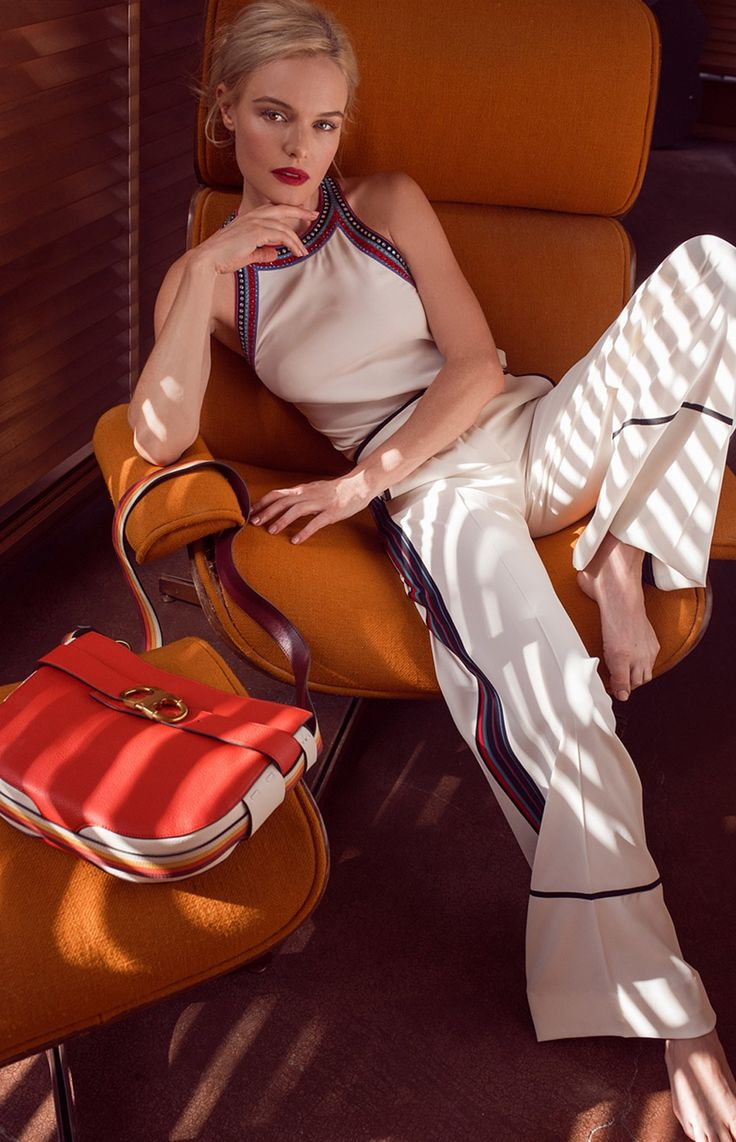 Kate Bosworth Introduces Her New Handbag Collaboration with Tory Burch | Gemini Link Stripe Cross-Body