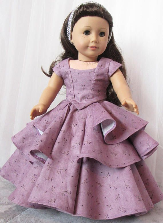 "Bella Rose Ball Gown by HannahReeseDD  18""  American Doll Dress Etsy shop"