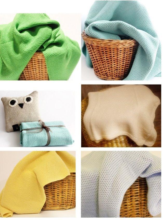 Kuschelige Babydecke Merinowolle oder Baumwolle