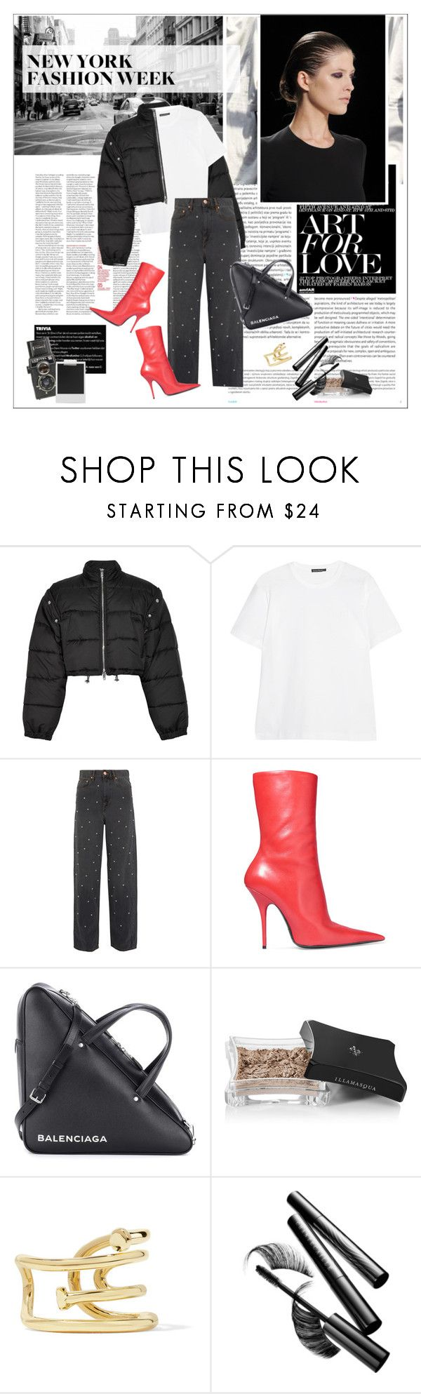 """#nyfw"" by stylemeup-649 ❤ liked on Polyvore featuring Oris, 3.1 Phillip Lim, Acne Studios, Étoile Isabel Marant, Balenciaga, Illamasqua, Jennifer Fisher, Chantecaille and Polaroid"
