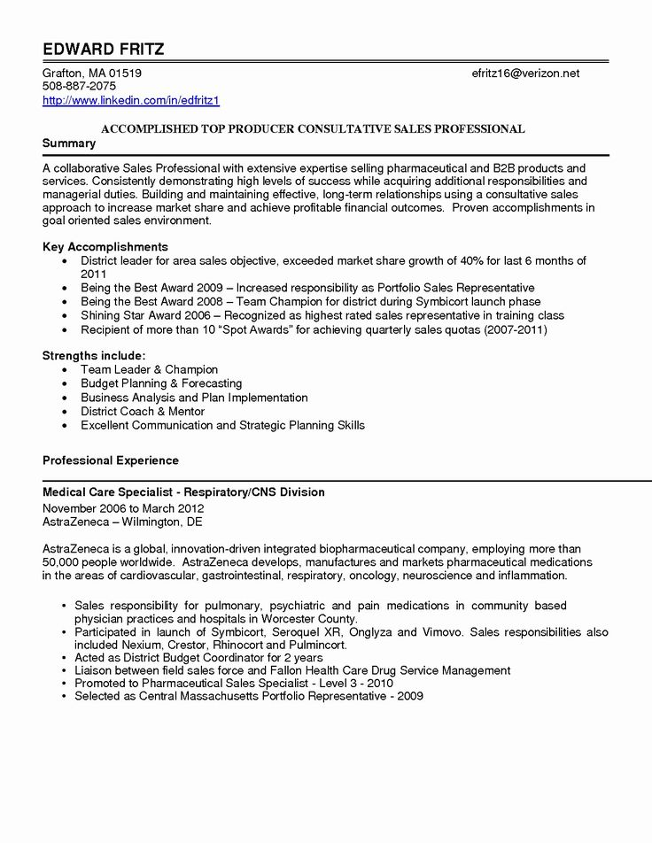 50 Best Of Outside Sales Resume Sample in 2020 (With