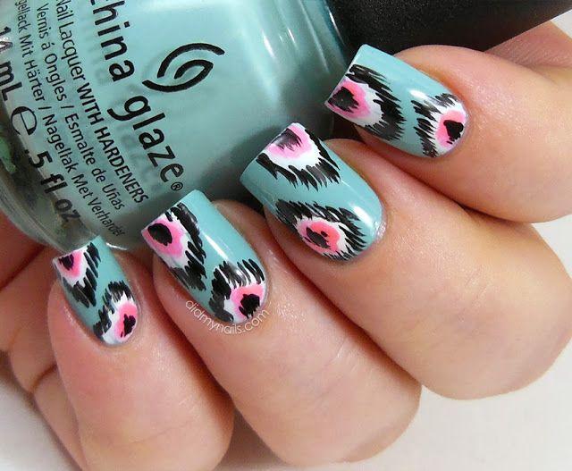 trending tribal nail design