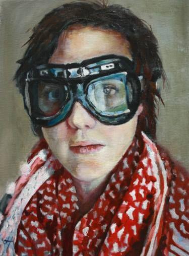"Saatchi Art Artist Danielle ter Hofstede; Painting, ""Veiled II"" #art"