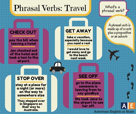 prhasal verbs travel