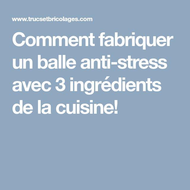 Comment fabriquer un balle anti-stress avec 3 ingrédients de la cuisine!
