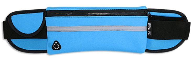 Waterproof Running Belt, Workout Fanny Pack, Running Bag, Fitness Workout Belt, Money Belt Waist Pack for Jogging, Walking, Exercise, Hiking, Outdoor travel. Zippered pocket and two sub compartment pockets can easily take in all your small belongings, such as 6 inch screen mobile phone,keys, wallet etc. Access hole for Headphones that can be threaded through easily without having to open the pouch. The soft diving fabric is breathable, comfortable, delicate and elastic, with shock…
