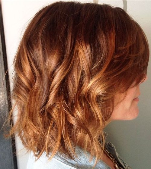 copper hair with caramel highlights