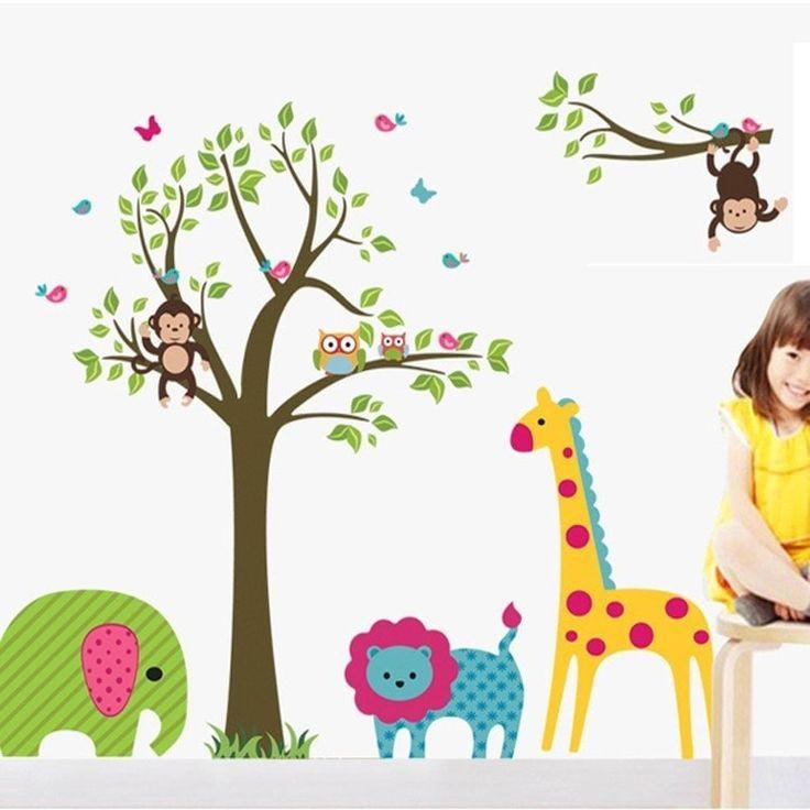Animal Tree Wall Stickers