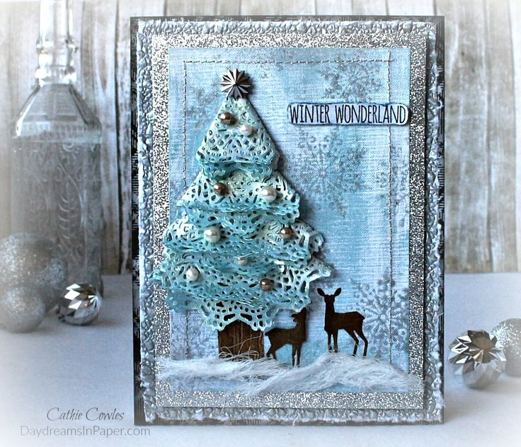 Doily Die Christmas Tree Christmas Card