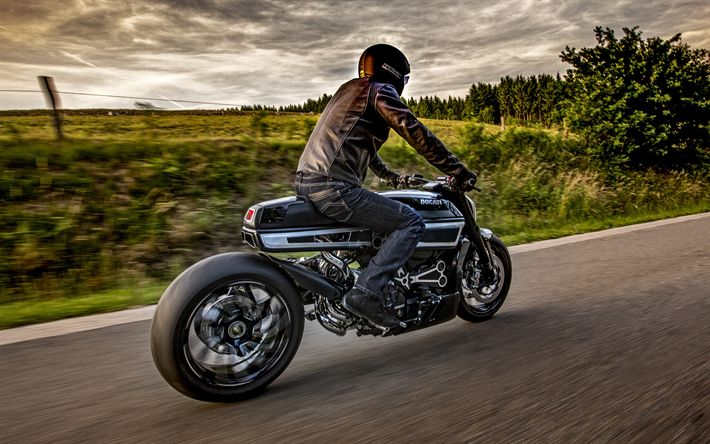 Lataa kuva Ducati XDiavel Thiverval, 2017 autot, HDR, ratsastaja, Ducati