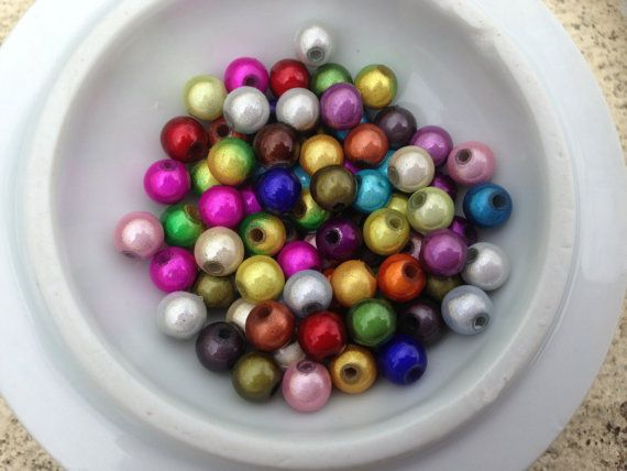 3D illusion coloured miracle beads - 25 beads from beadzandbuttons & co by DaWanda.com