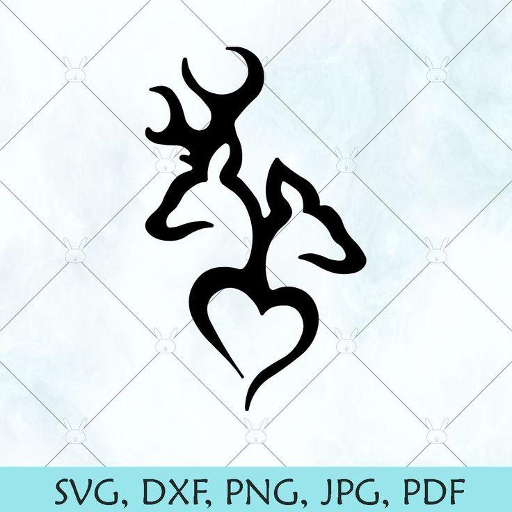 Download Deer Love SVG / Buck and Doe heart SVG / Deer Heads ...