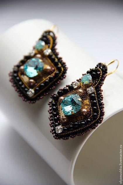 "Серьги ""Malcesine. RUES DE I`ITALE. "". Handmade.  #bead"