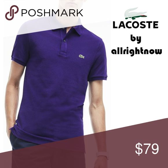 Lacoste Men's XXL NWT Purple Polo Shirt 100% Cotton Mesh  Model: TANZANITE (Purple) Classic Fit Button Placket. Ribbed Sleeves/Collar With Original Price Tags & Barcode attached. $89 Twin Tail Bottom Lacoste logo sewn on chest ALLRIGHTNOW. Authentic tags-attached brand name apparel. Lacoste Shirts Polos