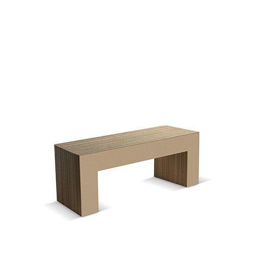 PANCA NR 7-120 - Carton Factory Designer: Skemp Design Misure: 120 X 40 X 45 Mdf avana #cartonfactory #ecodesign #cardboard #bench