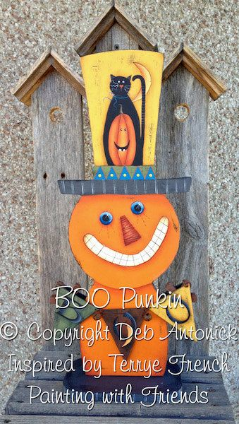 EPattern BOO Punkin' by PaintingwithDeb on Etsy