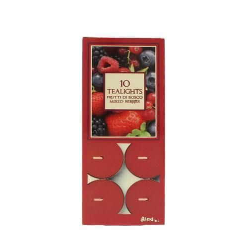 Prices Candles Aladino 10 Tea Lights - Mixed Berries