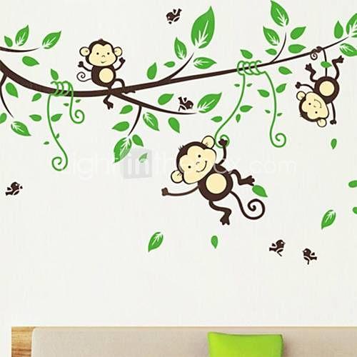 Zvířata / Komiks Samolepky na zeď Samolepky na stěnu Ozdobné samolepky na…