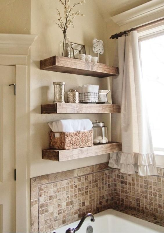 love the shelves and the tiles