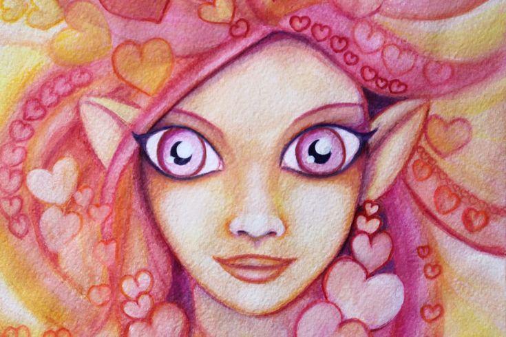 Liebeszauber selber machen, mit einem Bild der Liebesfülle Elfe