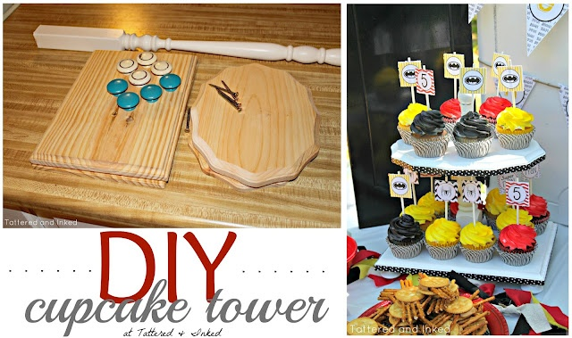 diy cupcake tower - great gift idea for that baker in the family!
