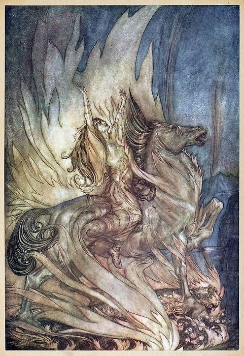 Arthur Rackham, from Siegfried & The twilight of the gods, by Richard Wagner