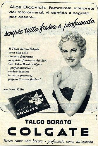 Vintage Italian Posters ~ #Italian #vintage #posters ~ La pubblicità e le stelle  luglio 1958 by Mario Algozzino
