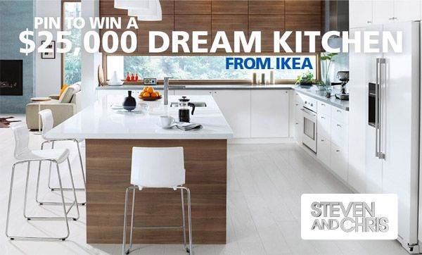 Need a kitchen makeover? Here is your chance to #win a $25,000 dream kitchen from @IKEACanada and @stevenandchris! |