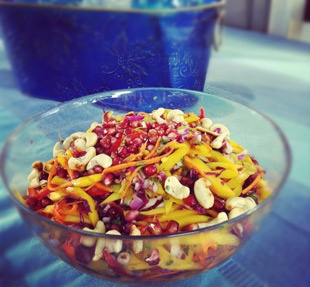 Mango SaladMango Slaw, Fit Food, Mango Salad With, Eating Cleaning, Cleaning Cuisine, Delicious Recipe, Cleaning Eating, Oxygen Mango, Cleaning Recipe