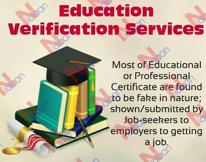 Education Verification Services Verbal Verification Education