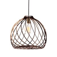 The trendy club pendant adds a beautiful warm glow to interiors.
