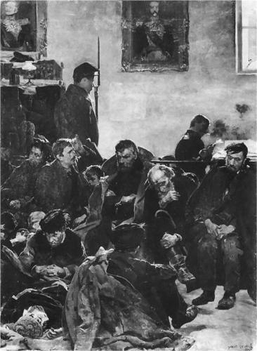 At the stage (Siberians) - Jacek Malczewski