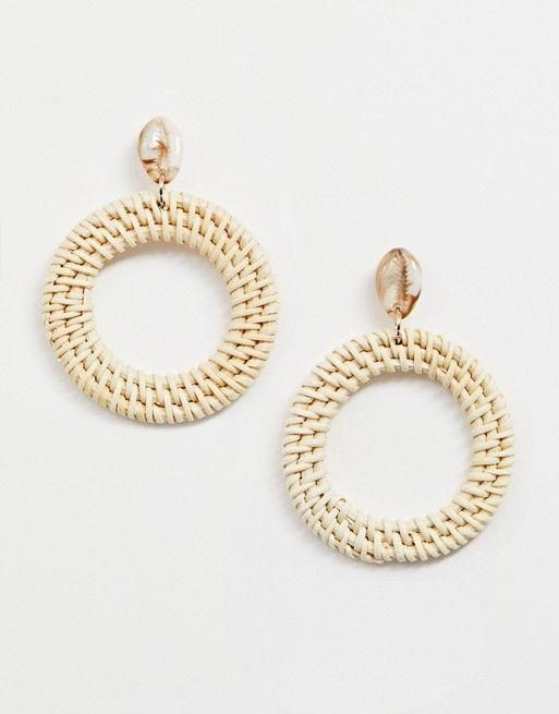 4099c245a Liars & Lovers | Liars & Lovers resin shell & raffia earrings  Shell