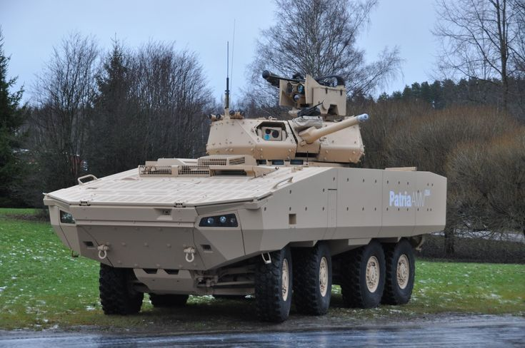the new Finnish AMV 28A armoured personnel carrier developed by Patria defence group .
