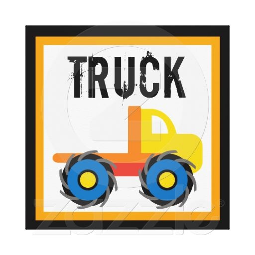 Monster Truck Wrapped Canvas Wall Decor for Kids.  Great for kid's rooms, pediatrician's offices, kid's dentists, schools, daycare, and any business that cater's to children.