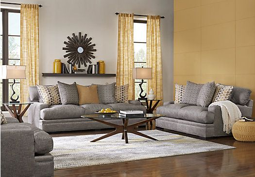 picture of Cindy Crawford Home Palm Springs Gray 8 Pc Living Room from Sectionals Furniture