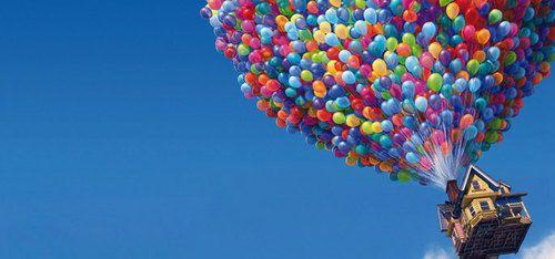 Up #up -  #hey,  #love -  #ballon,  #film