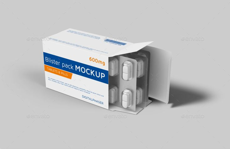 Download Tablets Capsule Blister Pack Box Mockup Box Mockup Blister Pack Mockup