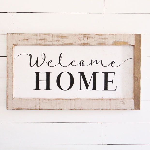 Welcome Home Sign in Wood Frame | Welcome home signs, Home ...