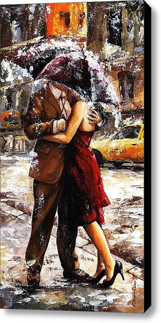 Rainy Day - Love In The Rain 2, by Emerico Toth. An Urban Art District favorite! http://www.UrbanArtDistrict.com http://www.facebook.com/UrbanArtDistrict