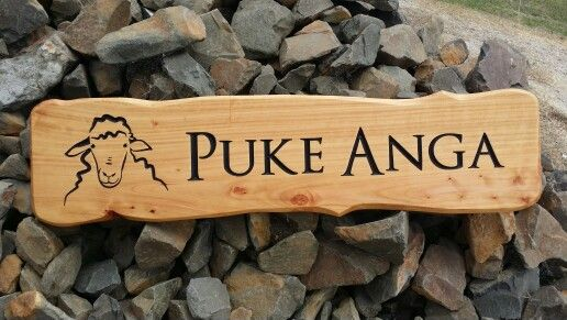 Farm gate macrocarpa wooden sign by woodensigns.co.nz